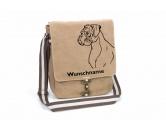 Leben & WohnenFußmatten & LäuferBoxer 2 Canvas Schultertasche Tasche mit Hundemotiv und Namen