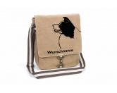 Schmuck & AccessoiresHunderassen Schmuck AnhängerBorder Collie 2 Canvas Schultertasche Tasche mit Hundemotiv und Namen