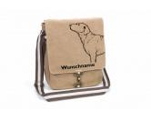 Für TiereHundemotiv - HandtücherChesapeake Bay Retriever Canvas Schultertasche Tasche mit Hundemotiv und Namen
