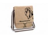 Bekleidung & AccessoiresT-ShirtsCavalier King Charles Spaniel Canvas Schultertasche Tasche mit Hundemotiv und Namen