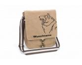 AusstellungszubehörHunderassen Ringclips vergoldetCollie Canvas Schultertasche Tasche mit Hundemotiv und Namen