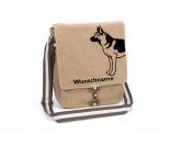 Socken mit TiermotivSocken mit HundemotivDeutscher Schäferhund 3 Canvas Schultertasche Tasche mit Hundemotiv und Namen