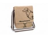 RucksäckeCanvas Rucksack HunderassenGolden Retriever 2 Canvas Schultertasche Tasche mit Hundemotiv und Namen