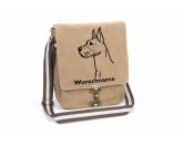 Bekleidung & AccessoiresHundesportwesten mit Hundemotiven inkl. Rückentasche MIL-TEC ®Deutsche Dogge 2 Canvas Schultertasche Tasche mit Hundemotiv und Namen