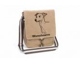 Schmuck & AccessoiresHunderassen Schmuck AnhängerItalian Greyhound Canvas Schultertasche Tasche mit Hundemotiv und Namen