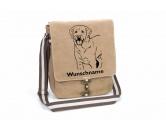 Leben & WohnenKissen & KissenbezügeLabrador Retriever Canvas Schultertasche Tasche mit Hundemotiv und Namen