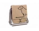 Für Menschen% SALE %Labrador Retriever 2 Canvas Schultertasche Tasche mit Hundemotiv und Namen