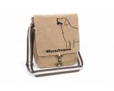 Für MenschenWeihnachtsmarktLabrador Retriever 3 Canvas Schultertasche Tasche mit Hundemotiv und Namen