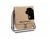 Socken mit TiermotivSocken mit HundemotivNeufundländer Canvas Schultertasche Tasche mit Hundemotiv und Namen