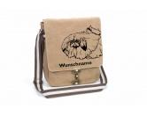 Socken mit TiermotivSocken mit HundemotivPekinese Canvas Schultertasche Tasche mit Hundemotiv und Namen