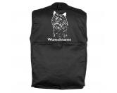 MarkenMil-Tec Hundesport Outdoor-Weste mit Dummytasche: Cairn Terrier