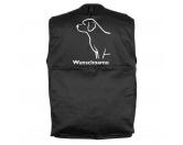 Für MenschenHunde Motiv Handtuch -watercolour-Labrador Retriever 2 - Hundesportweste mit Rückentasche MIL-TEC ®