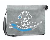 Bekleidung & AccessoiresFan-Shirts für HundefreundeCanvas Messenger: Spruch - Herz zu verschenken- grau