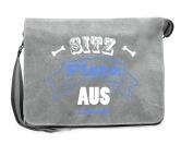 Bekleidung & AccessoiresFan-Shirts für HundefreundeCanvas Messenger: Spruch -SITZ PLATZ AUS- grau