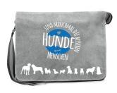 Bekleidung & AccessoiresFan-Shirts für HundefreundeCanvas Messenger: Hunde sind bessere Menschen- grau