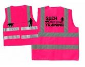 Hundesport Warnweste: Mantrailing pink