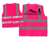 Kollektion -Mantrailing-Hundesport Warnweste: Dogwalkerin pink