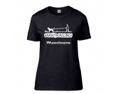 Tiermotiv TassenTassen HundesprücheHundesport T-Shirt Damen -Mantrailing- 2.0