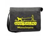 T-ShirtsFan-Shirts für HundefreundeMantrailing 2 - Canvas Schultertasche mit Namen