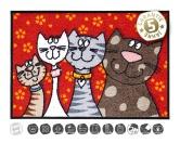 Tierische FußmattenDesigner Fußmatte: Katzenfamilie Schmusetiger