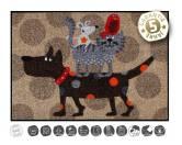 Tierische FußmattenDesigner Fußmatte: Tierturm Hund Katze Maus