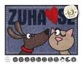 Tierische FußmattenDesigner Fußmatte: Dog loves Cat