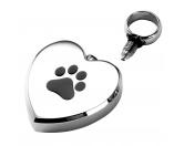 Für TiereDummies & ApportierhilfenEnergy and Life Magnetschmuck - Asche Anhänger -Herz mit Pfote-