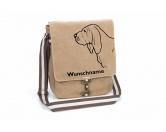 Taschen & RucksäckeCanvas Tasche HunderasseBloodhound Canvas Schultertasche Tasche mit Hundemotiv und Namen