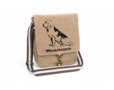 Taschen & RucksäckeCanvas Tasche HunderasseBloodhound 3 Canvas Schultertasche Tasche mit Hundemotiv und Namen