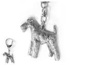 AusstellungszubehörHunderassen Ringclips vergoldetDesign Hunderasse Schlüsselanhänger -Welsh Terrier-