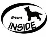 Bekleidung & AccessoiresHundesportwesten mit Hundemotiven inkl. Rückentasche MIL-TEC ®Inside Aufkleber: Briard - Berger De Brie