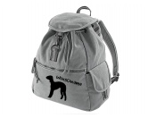 Tierische-FigurenVersilberte Hunde-FigurenCanvas Rucksack Hunderasse: Bedlington Terrier