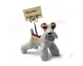 Tiermotiv Tassen3D Tassen HundeDesigner Zettel-Bilder-Halter: Foxterrier Drahthaar