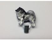 Socken mit TiermotivSocken mit HundemotivHundeausstellungs-Startnummern-Clip: Keeshond - Spitz - Eurasier