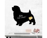 Schmuck & AccessoiresHunderassen-Broschen versilbert/vergoldetSelbstklebende Kreidetafel: Norfolk Terrier 2