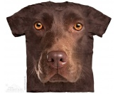 WohnenKissen & KissenbezügeThe Mountain Shirt Labrador  - Chocolate Lab Face