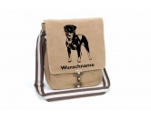 Taschen & RucksäckeCanvas Tasche HunderasseRottweiler 2 Canvas Schultertasche Tasche mit Hundemotiv und Namen