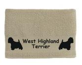 DuftbäumeHundemotiv DuftbäumeHandtuch: Westie - West Highland Terrier 2