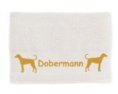 Aufkleber & TafelnAufkleber - On-LeinHandtuch: Dobermann 1