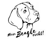 Taschen & RucksäckeCanvas Tasche HunderasseHunderasse Aufkleber: Beagle