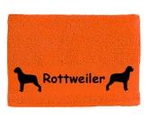 Aufkleber & TafelnMyrna Auto - Aufkleber Handtuch: Rottweiler 1