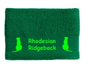 AusstellungszubehörHunderassen Ringclips vergoldetHandtuch: Rhodesian Ridgeback 2