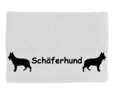 Aufkleber & TafelnHandtuch: Schäferhund 3