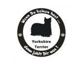 Schmuck & AccessoiresVersilberte AnhängerWenn Du Keinen Hast ... Hunde Aufkleber: Yorkshire Terrier 2