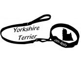 Tiermotiv Tassen3D Tassen HundeOn-Lein Aufkleber: Yorkshire Terrier