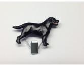 Für MenschenHundekalender 2020Hundeausstellungs-Startnummern-Clip: Labrador Black