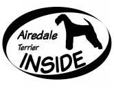 Für MenschenHundekalender 2020Inside Aufkleber: Airedale Terrier 1