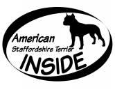 Bekleidung & AccessoiresHundesportwesten mit Hundemotiven inkl. Rückentasche MIL-TEC ®Inside Aufkleber: Am. Staffordshire Terrier