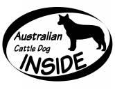 Bekleidung & AccessoiresHundesportwesten mit Hundemotiven inkl. Rückentasche MIL-TEC ®Inside Aufkleber: Australian Cattle Dog