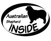 Selbstklebende KreidetafelnHundeInside Aufkleber: Australian Shepherd